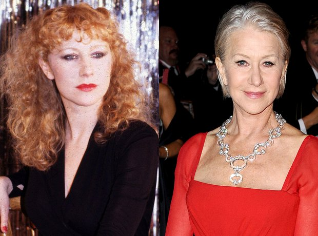 Helen Mirren now and then