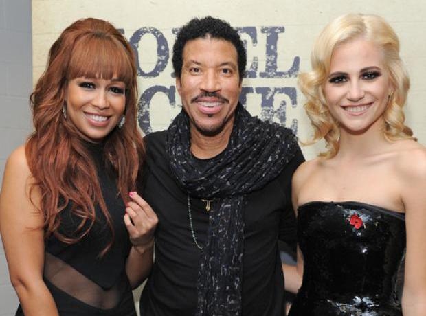 Lionel Richie, Rebecca Ferguson and Pixie Lott