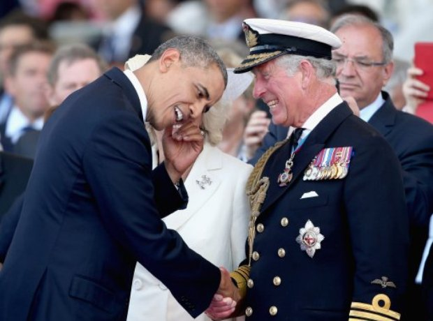 Barack Obama and Prince Charles
