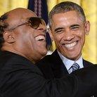 Stevie Wonder and Barack Obama
