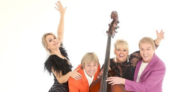Cheryl, Mike and Jay, formerly of Bucks Fizz, with