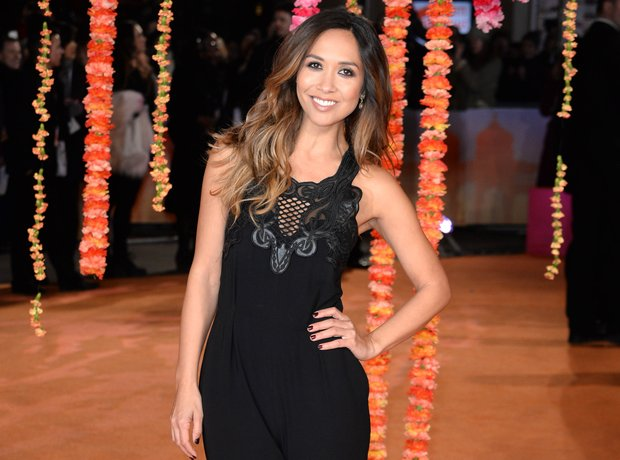 Myleene Klass on the orange carpet for The Second