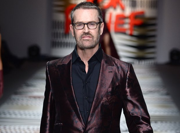 Rupert Everett on the Fashion For Relief catwalk