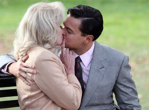 Joanna Lumley Leonardo DiCaprio kiss