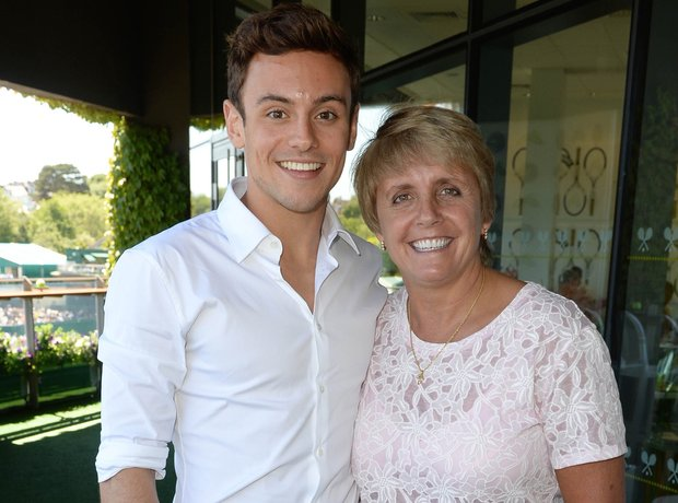 Tom Daley and coach