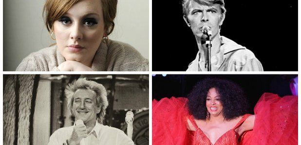 Adele, David Bowie, Rod Stewart, Diana Ross