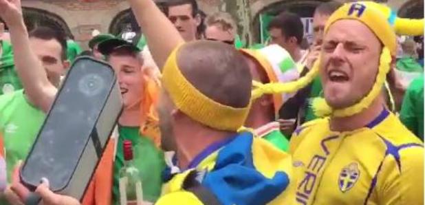 Irish Swedish Fans sing abba