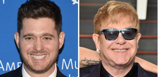 Elton John and Michael Buble